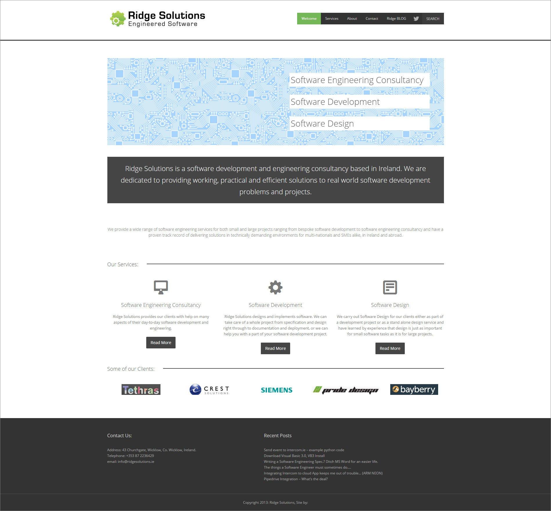 Ridge Design Website Home Page For Ridge Solutions Ridge