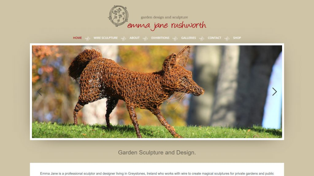 website designed for emma jane rushworth home page featured image