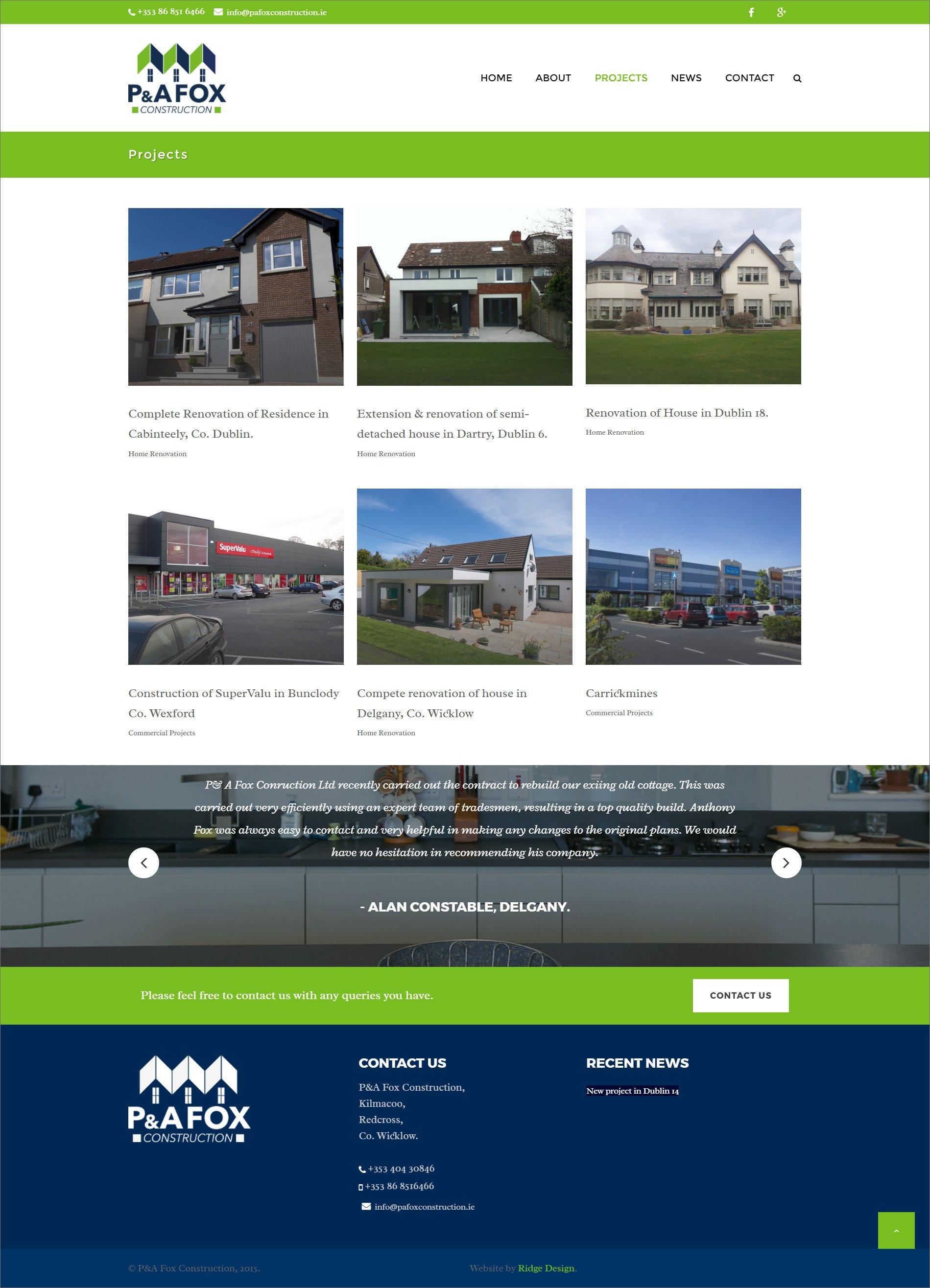 Ridge Design-Website-Design-PA-Fox-Projects