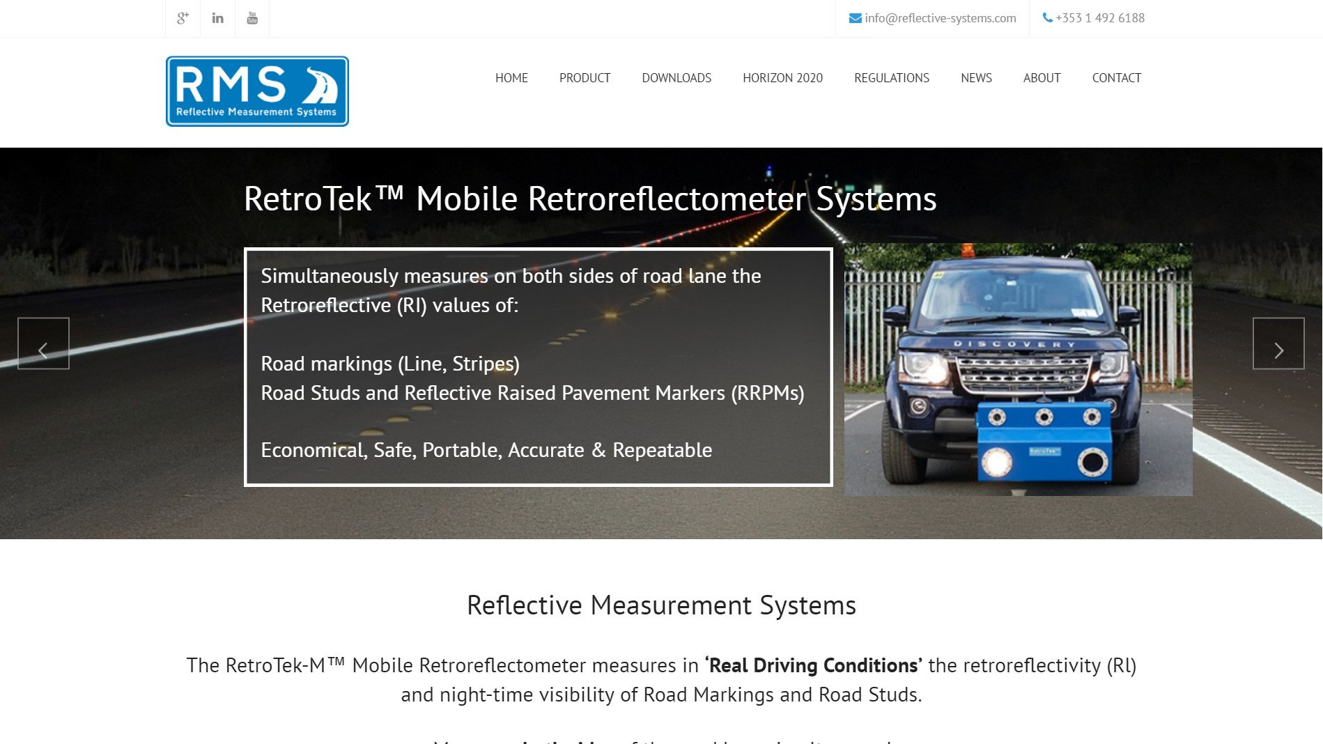 Website design for RMS design by Ridge Design home page visual featured image