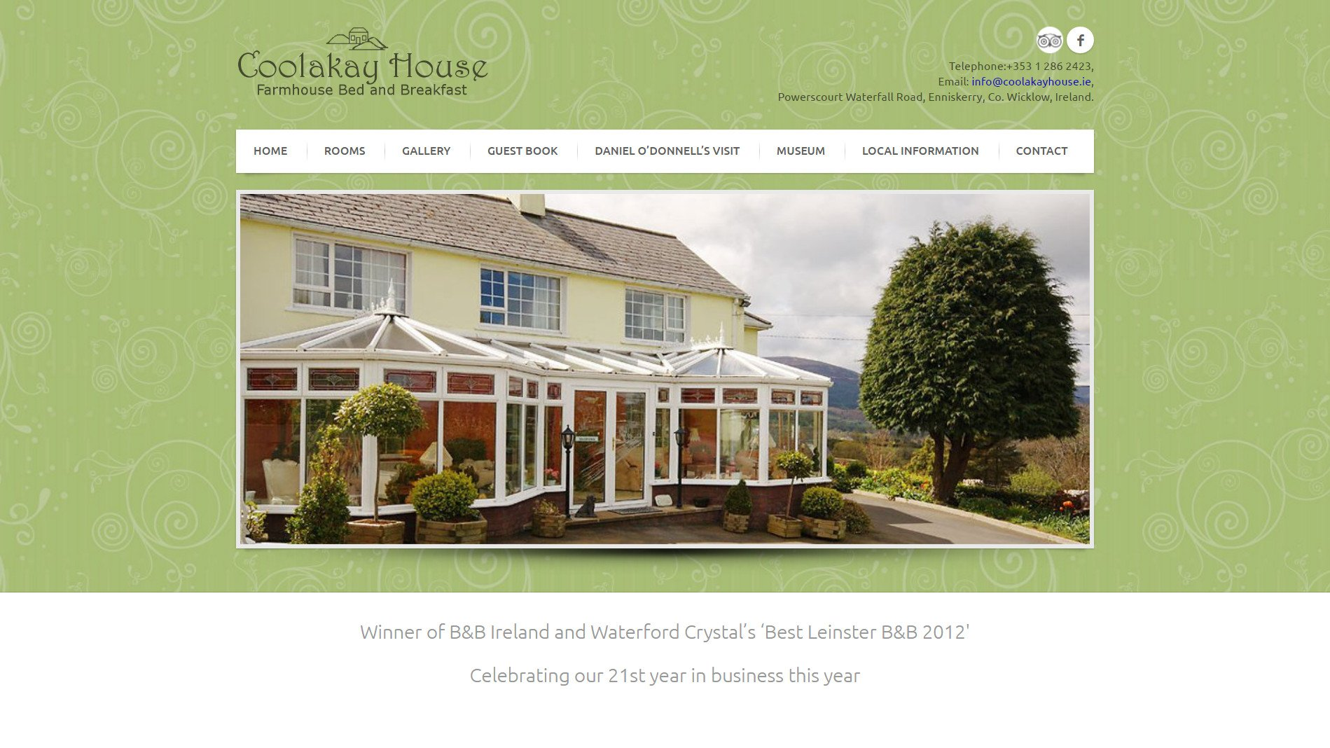 Website design for Coolakay House designed by Ridge Design home page visual used as featured image
