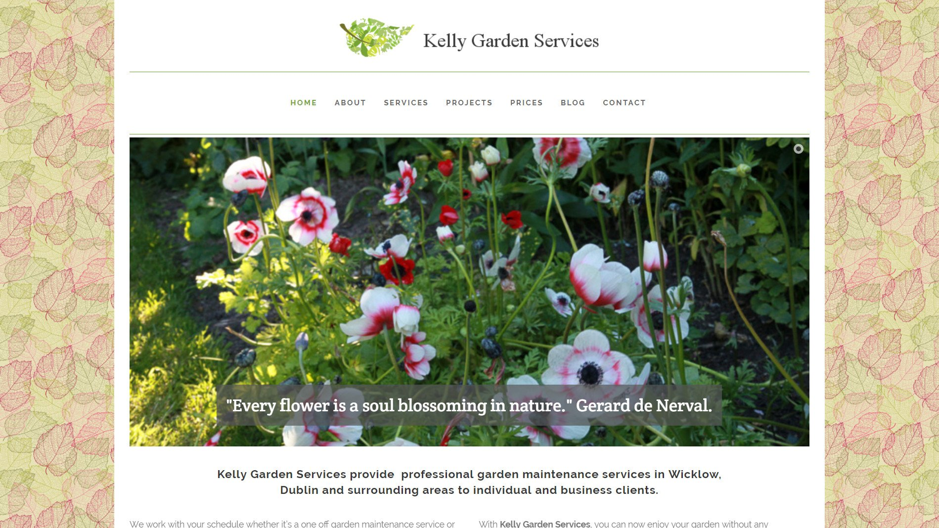 Kelly Gardening Services website designed by Ridge Design featured image