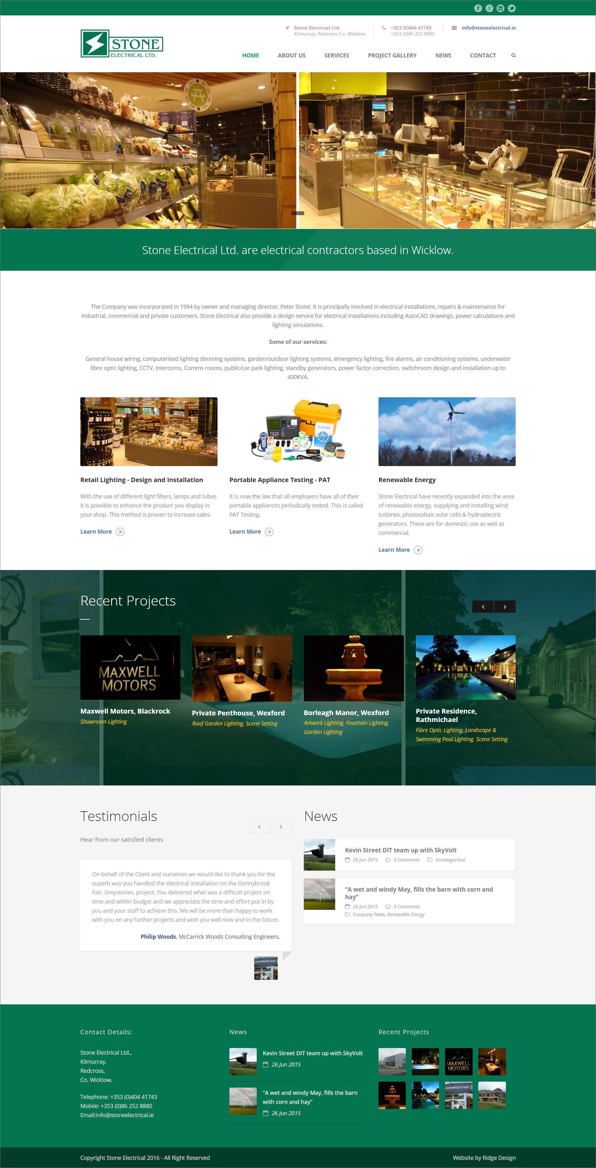 Ridge Design-Website-Design-Stone-Electrical-Home