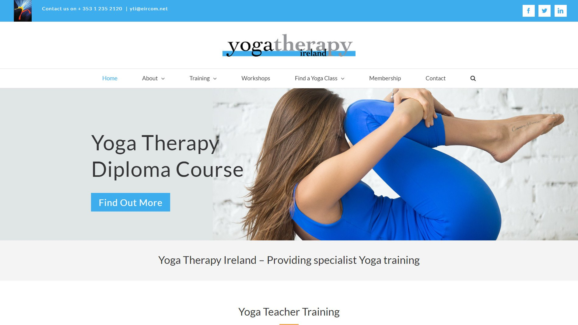 Website design for Yoga Therapy Ireland by Ridge Design - Featured Image