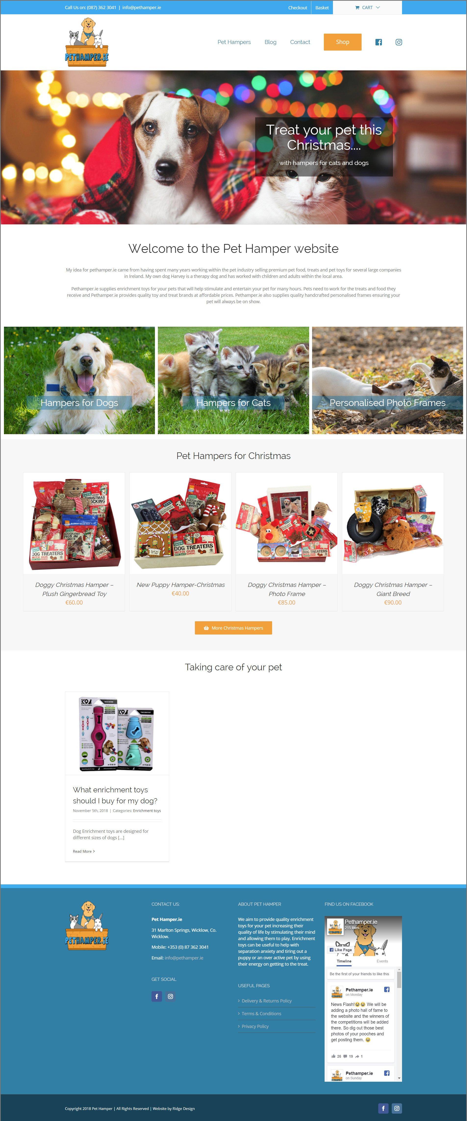 Pet-Hamper-Dog-home-page-Website-Design