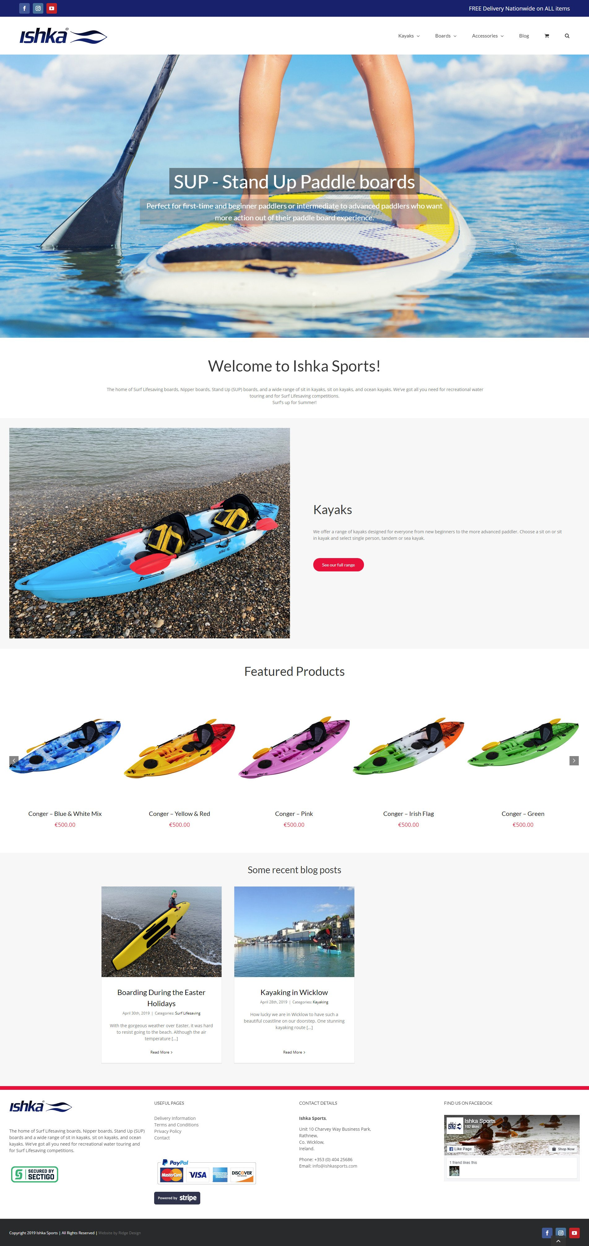 Ishka-Sports-Website-Design-home